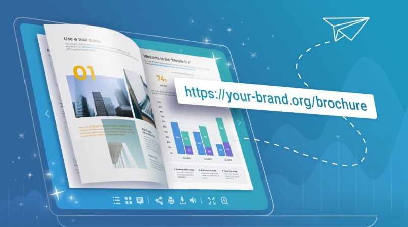 Print brochure with link leading to website.